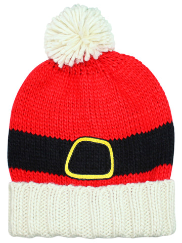 a9dbcca816d Red Knit Christmas Santa Claus Beanie Hat With Pom Pom ...