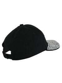 Softball Mom Black Rhinestone Baseball Cap