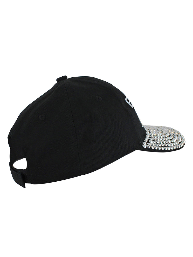 Baseball Mom Black Rhinestone Baseball Cap