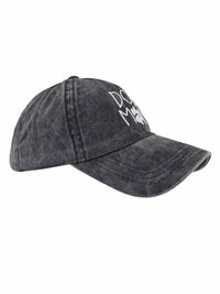 Dog Mom Black Cotton Baseball Cap