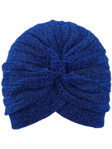 Metallic Turban Head Wrap Cap