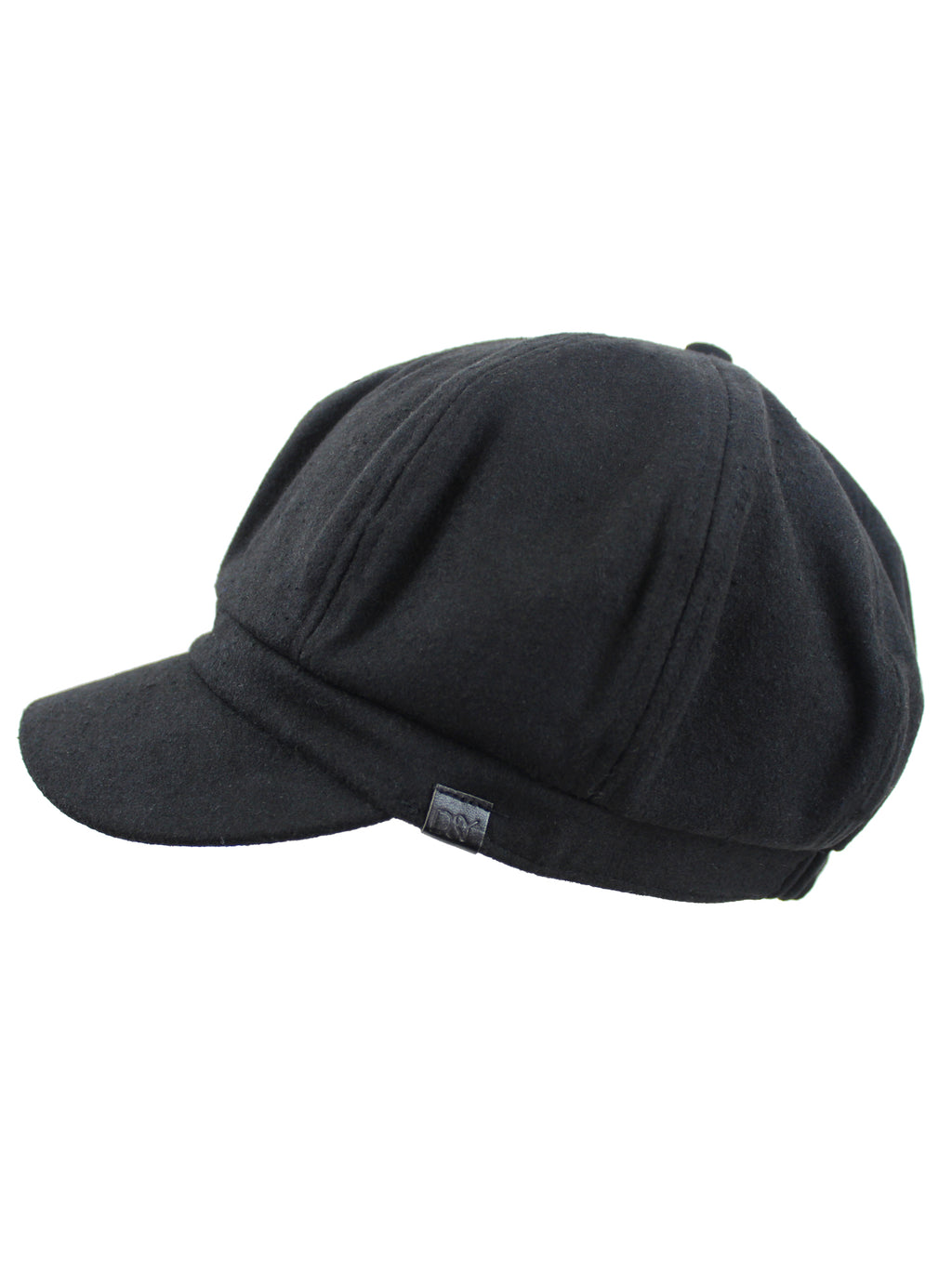 Black Baker Boy Wool Cabbie Hat