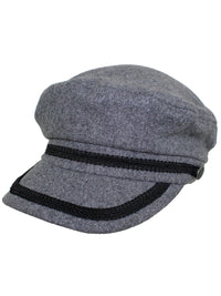 Charcoal Gray Wool Fisherman Cabbie Hat
