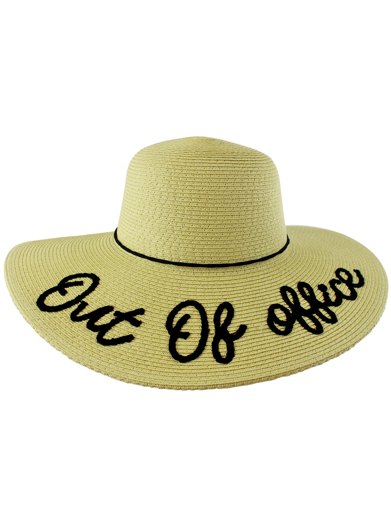 c58afb01a0 Out Of Office Embroidered Beach Floppy Sun Hat – Luxury Divas