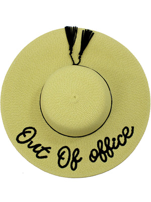 Out Of Office Embroidered Floppy Hat