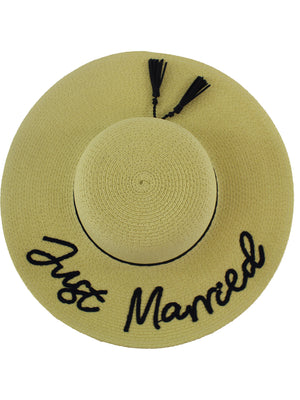 Just Married Beach Hat UPF 50