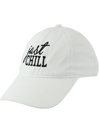 White Just Chill Baseball Cap Hat