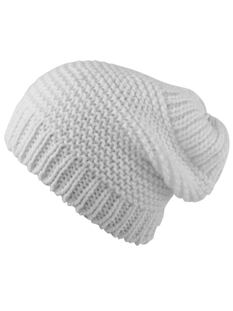 Ivory Knit Ponytail Beanie Hat