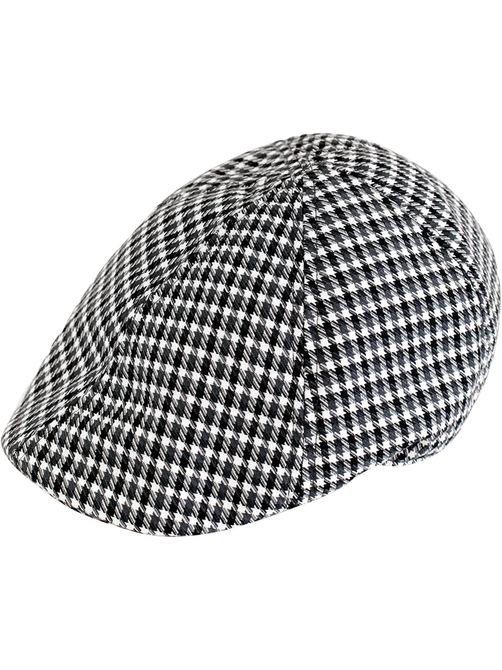 Black & White Houndstooth Duckbill Ivy Cap Hat