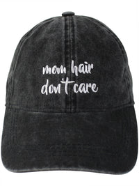 Black Mom Hair Don't Care Baseball Cap