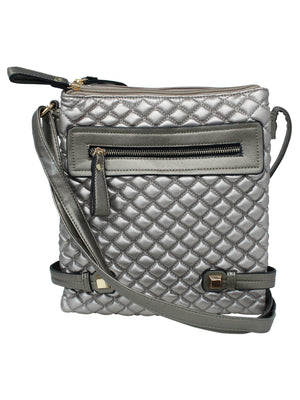 Quilted Crossbody Messenger Bag