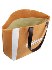 Football Game Day Beach Bag Tote