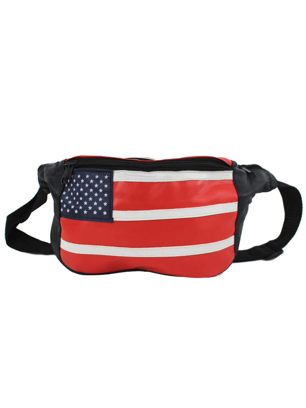 Genuine Leather American Flag Fanny Pack Waist Bag