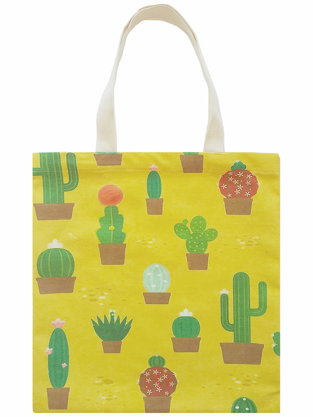 Cactus Print Canvas Tote Bag
