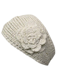 Knit Handmade Headband With Flower Detail