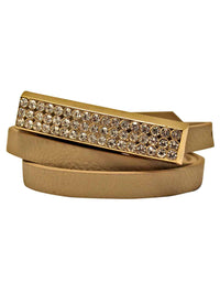 Thin Belt With Gold Bar Buckle