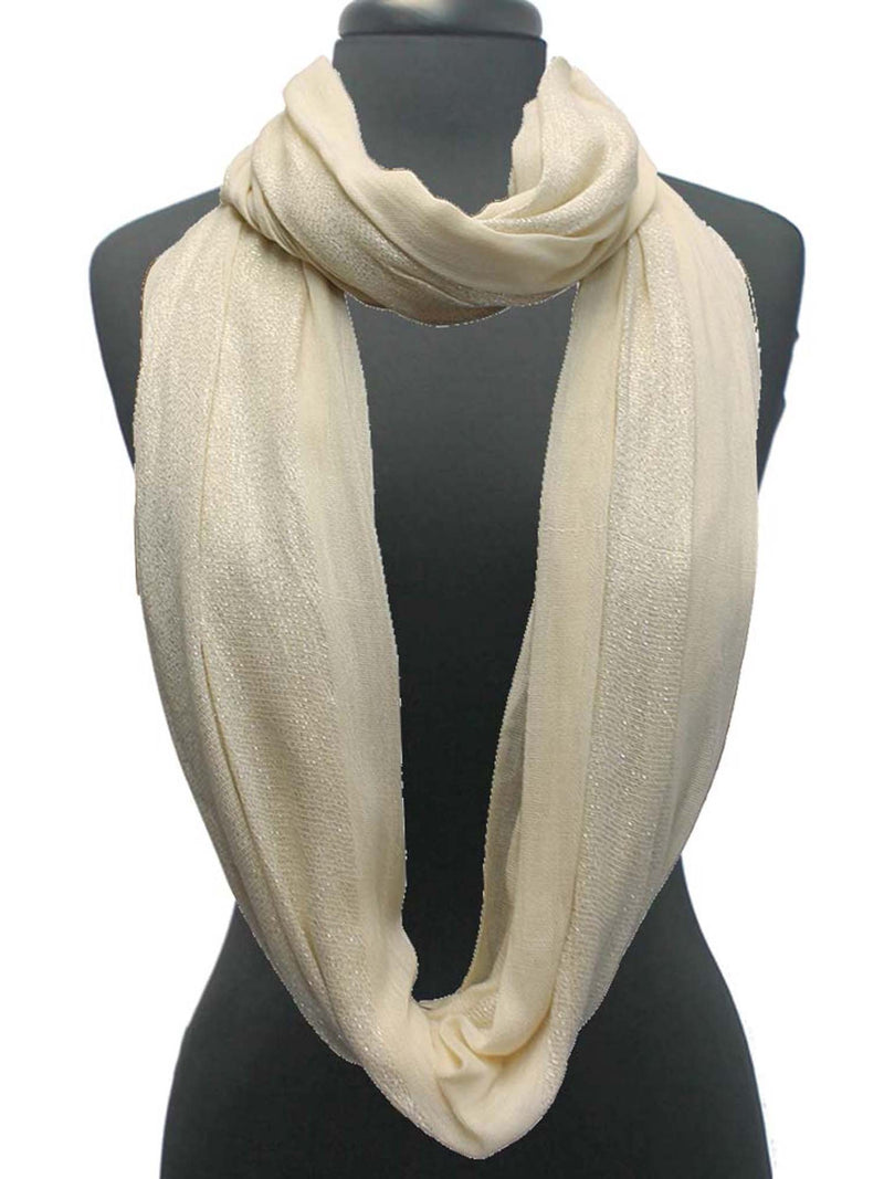Double Sided Metallic Infinity Scarf