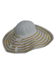 White Two-Tone Wide Brim Floppy Hat