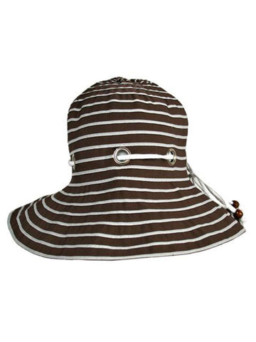 ... Brown Nautical Bucket Hat With Rope Hatband ... c83a8f19150f