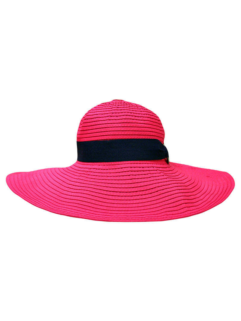 Fuchsia Crushable Floppy Hat With Hat Band