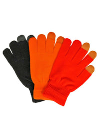 Tricolor 3 Pack Stretchy Texting Gloves