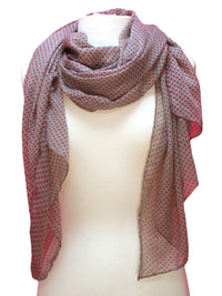 Sheer Lightweight Polka Dot Scarf Shawl