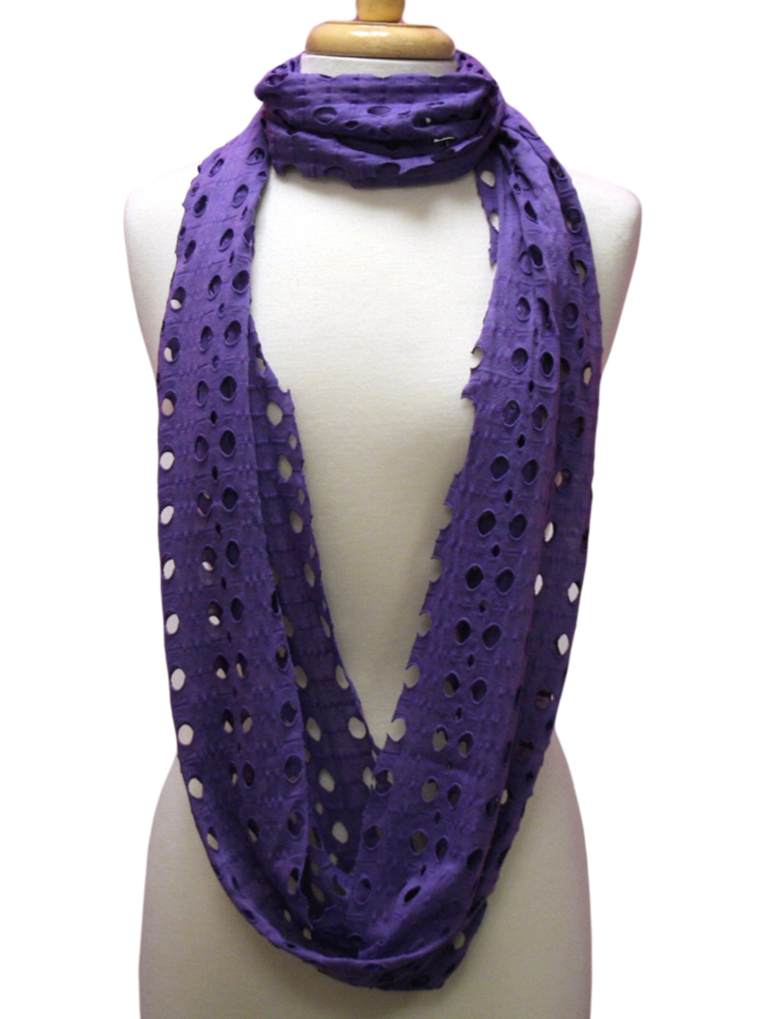 Infinity Ring Scarf With Circle Cut-Outs