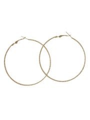 Oversized Textured Metal Hoop Earrings