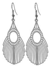 Tear Drop Laser Cut Earrings