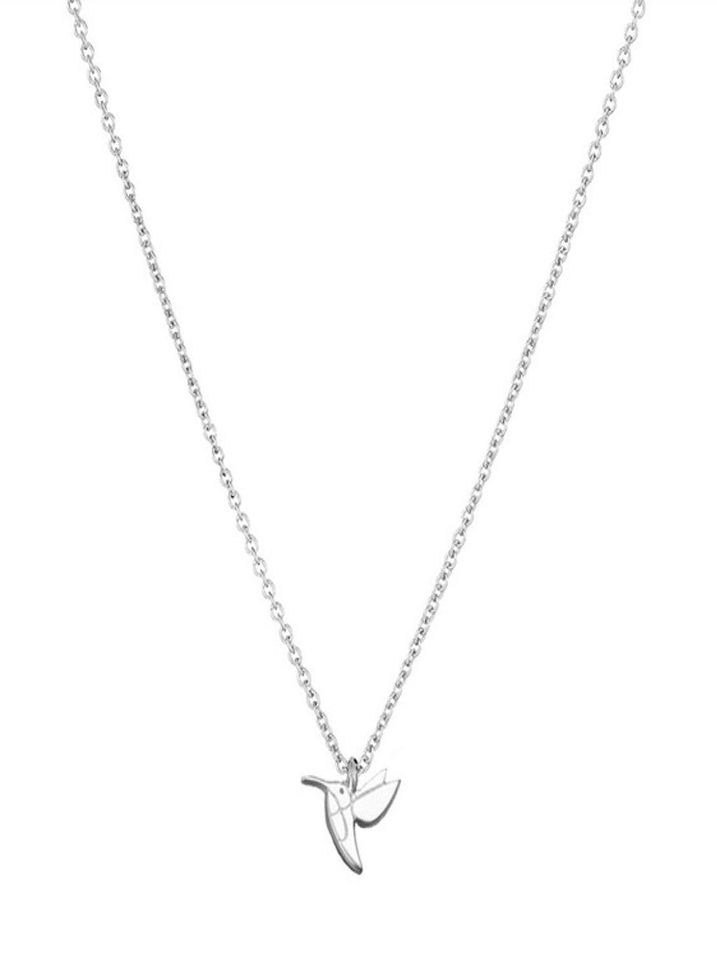 Hummingbird Life Is Beautiful Silver Tone Necklace