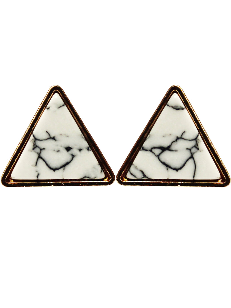 Marbled Triangle Illusion Earrings