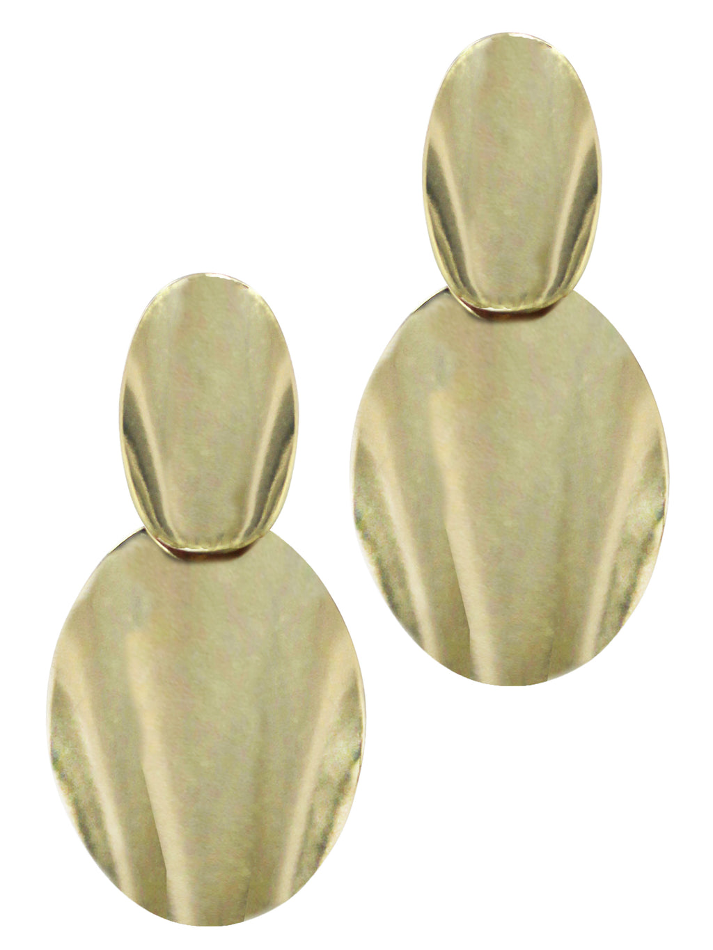 Gold 90'S Retro Shield Earrings