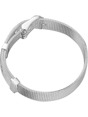 Sterling Silver Plated Belt Style Bracelet
