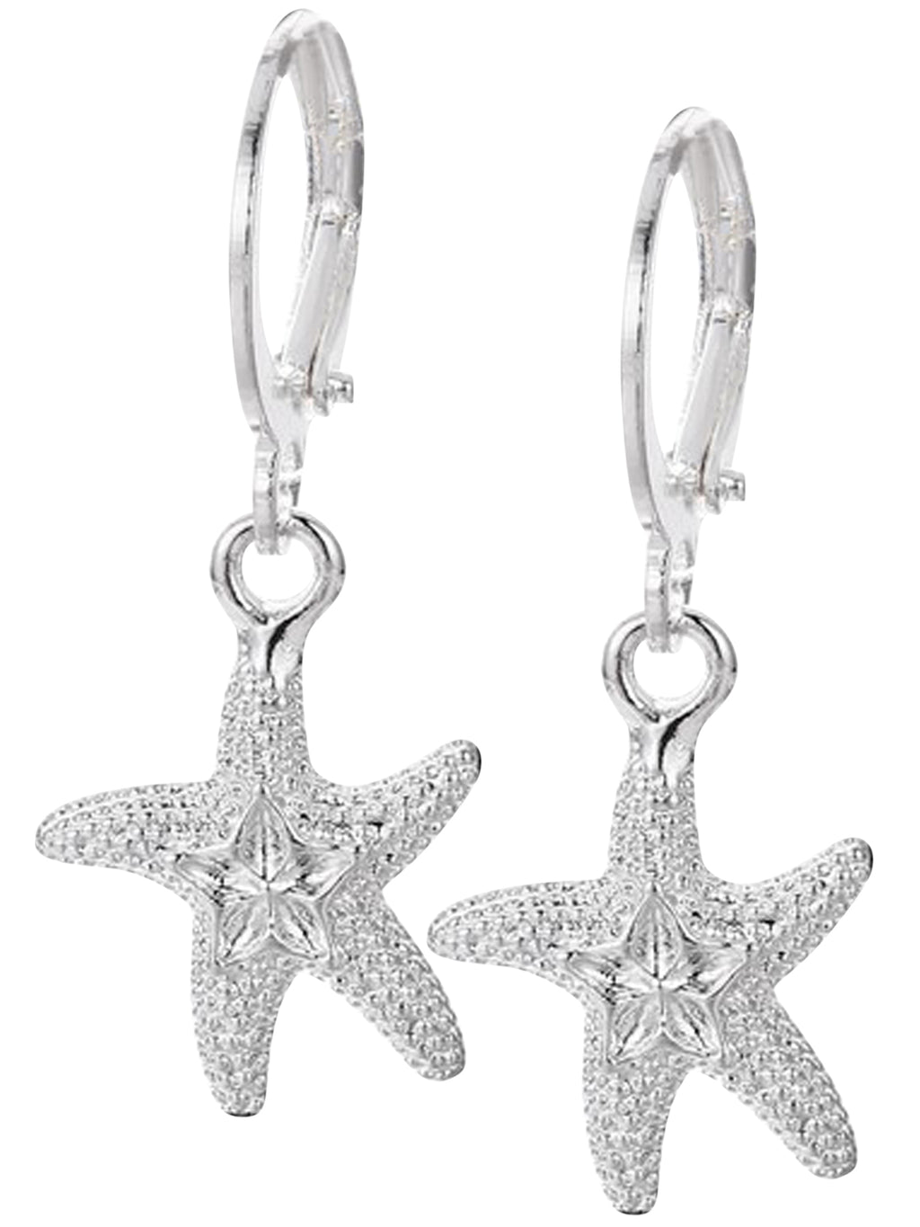 Starfish Sterling Silver Plated Earrings