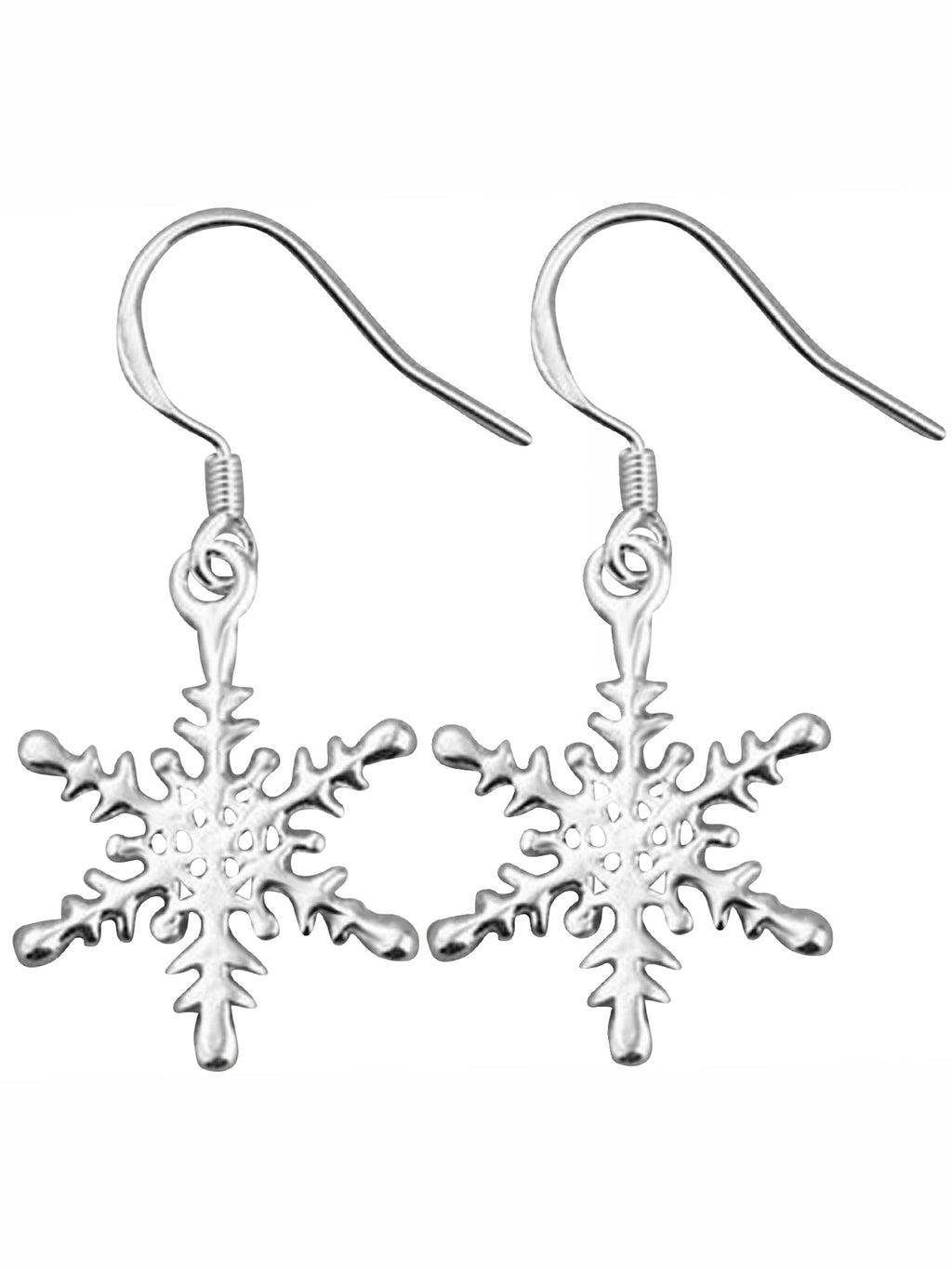 Sterling Silver Plated Snowflake Hook Earrings