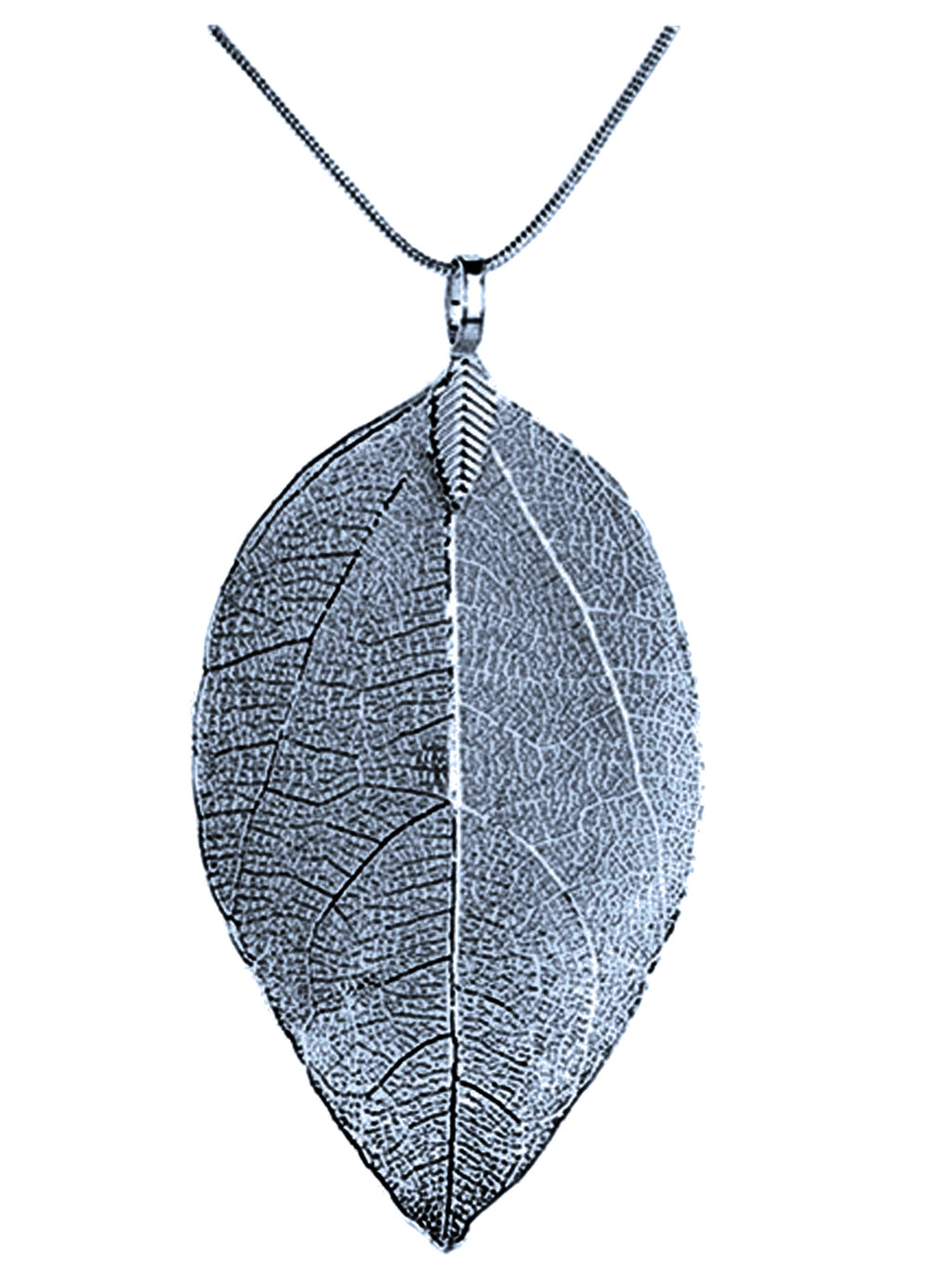Long Filigree Leaf Necklace