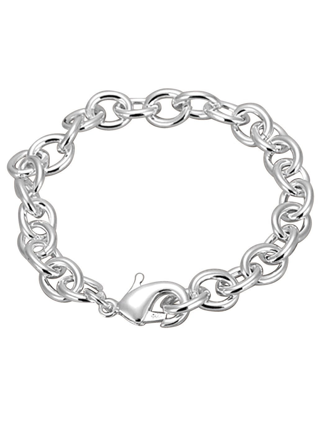 Classic Style Link Sterling Silver Plated Bracelet