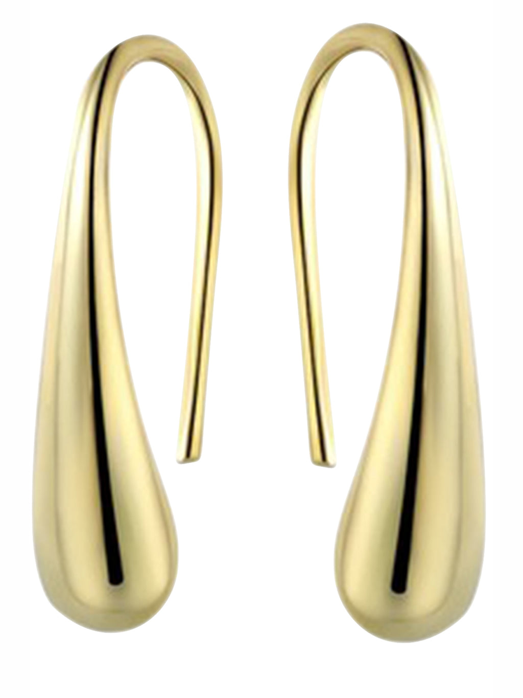 Gold Plated Dew Drop Hook Earrings