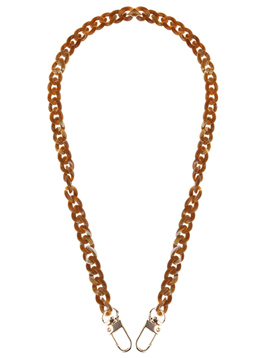 Brown Acrylic Chain Mask Holder Necklace