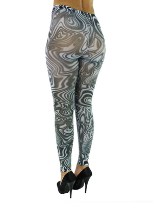 Black & White Swirled Tights
