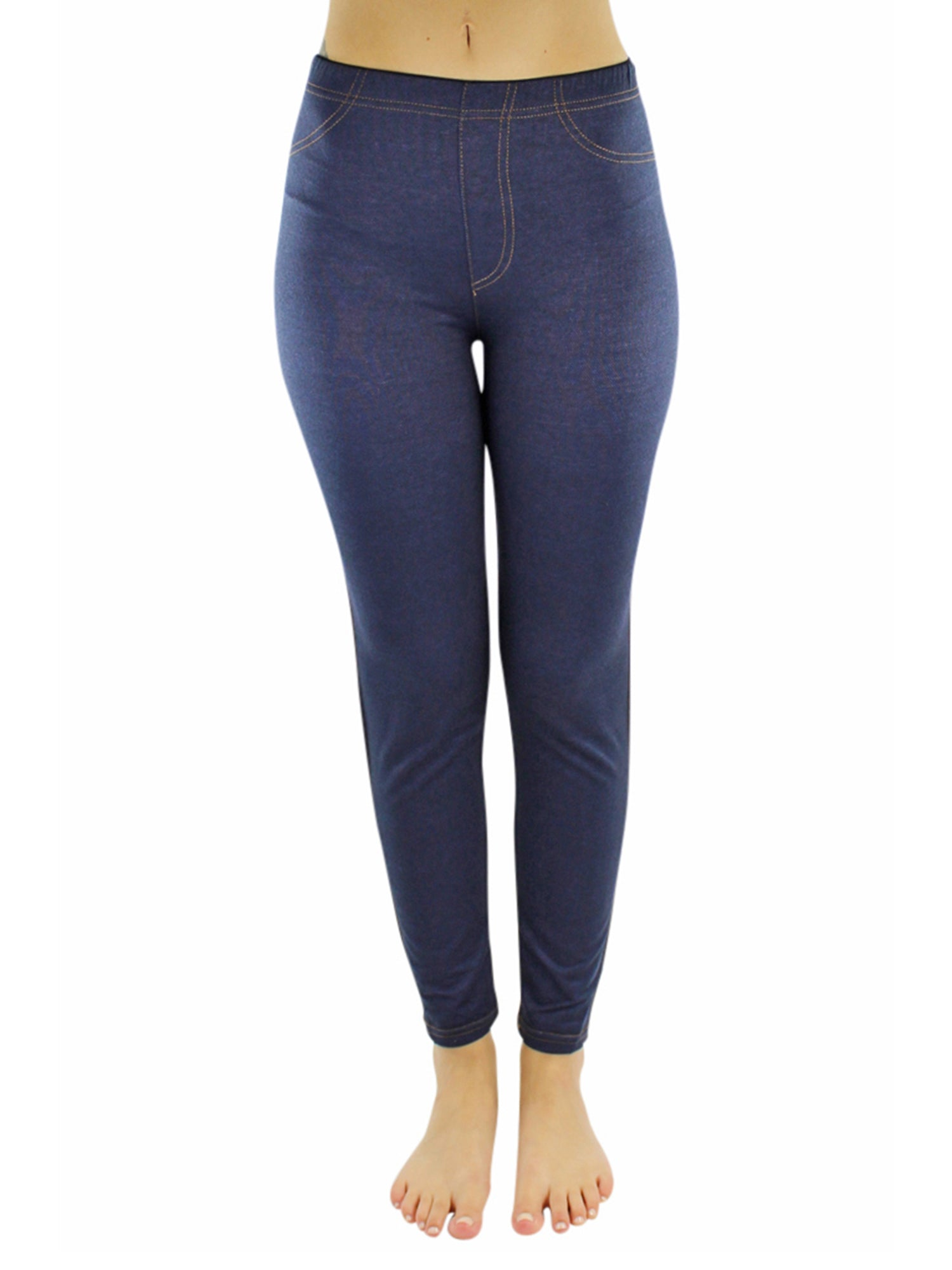Denim Jeggings With Contrast Stitching