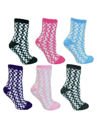 Geometric Fuzzy 6 Pack Socks