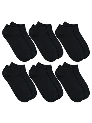 Black 6-Pack Women's Ankle Socks