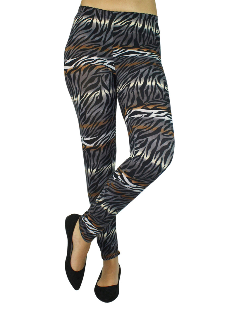 Multicolor Animal Print Stretchy Leggings
