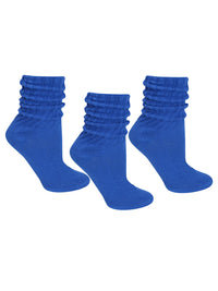 Cotton 3 Pack Slouch Socks