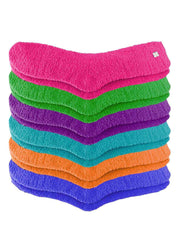 Solid Color Toasty Plush 6 Pack Fuzzy Socks