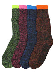 Colorful Warm Thermal Heated 4 Pack Womens Socks