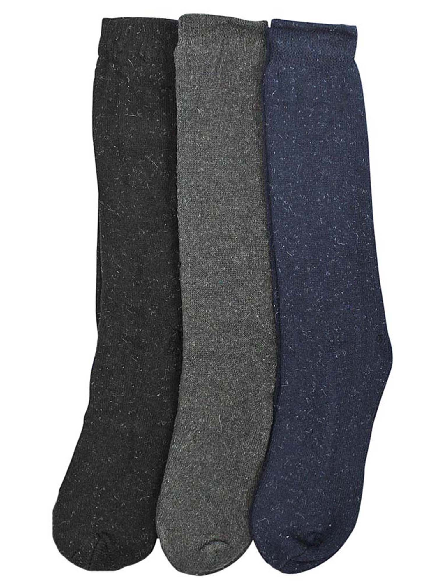 Gray Black & Navy Blue 3 Pack Long Thermal Mens Socks