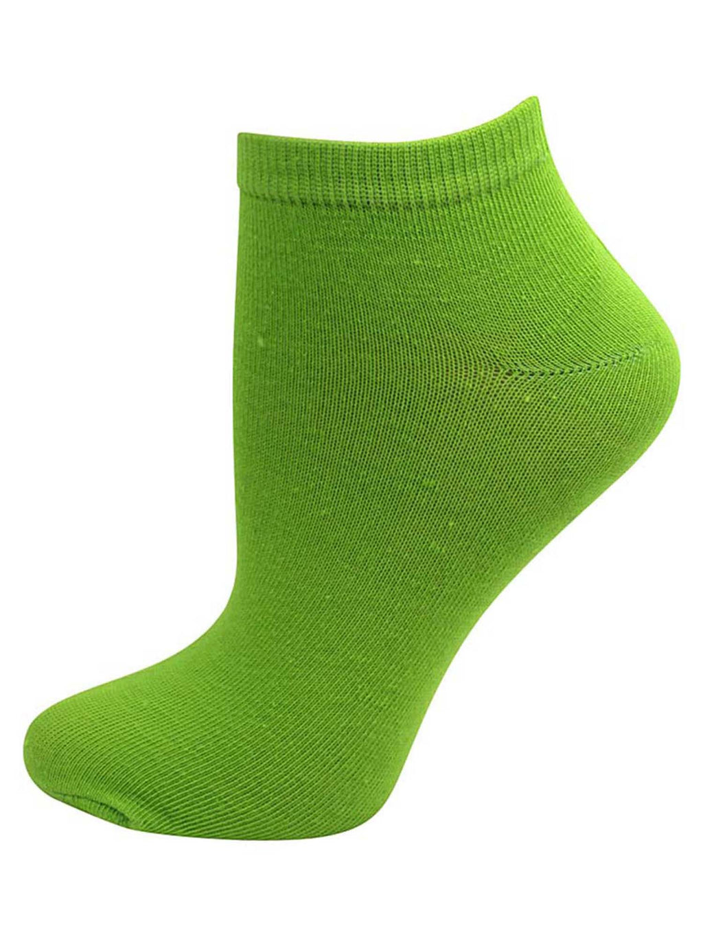 Solid Light Color Assorted 6-Pack Ladies Ankle Socks