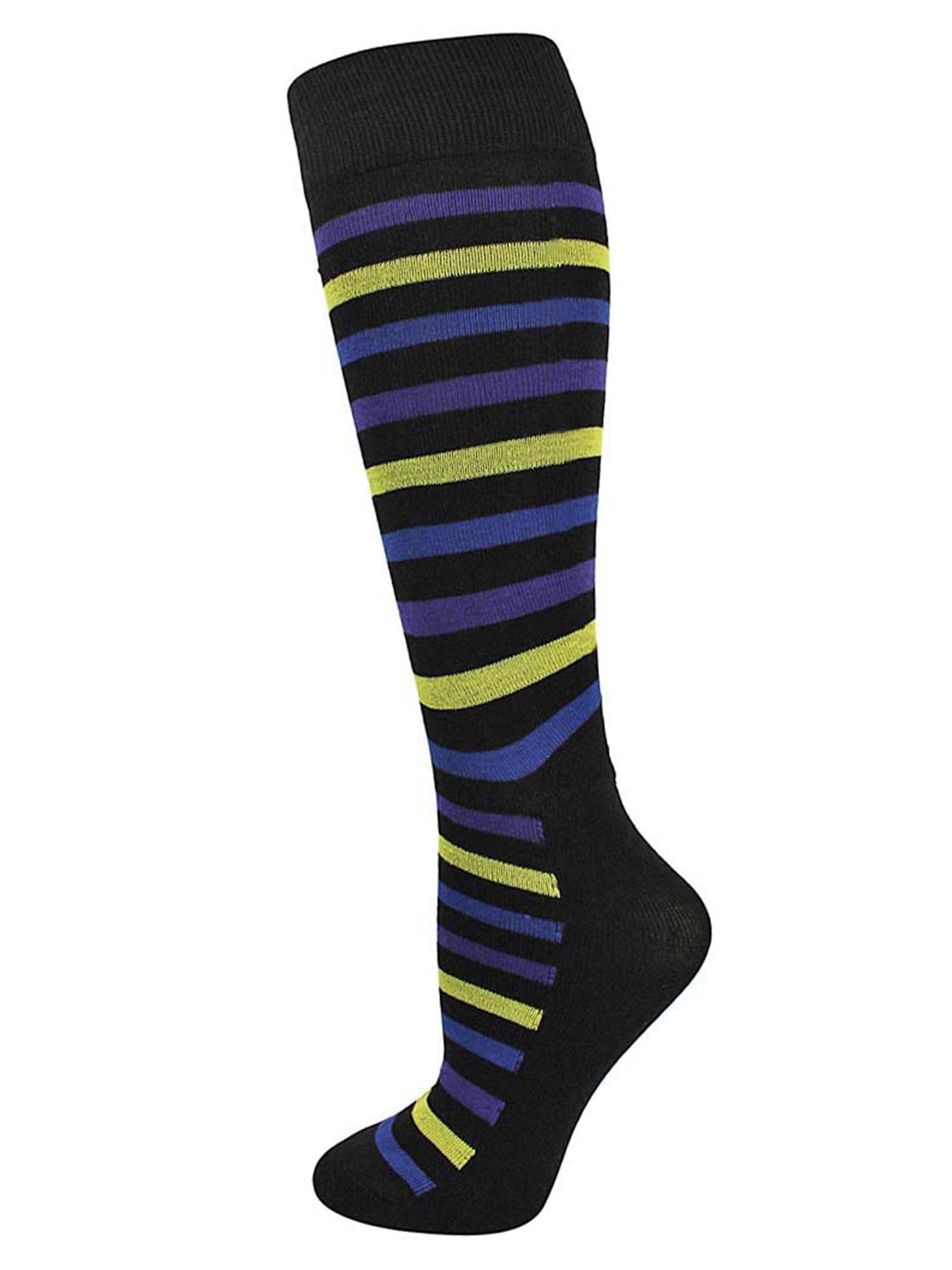 Fun Multicolor Striped Mens 6 Pack Dress Socks